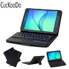 CucKooDo Ultra Slim Detachable Bluetooth Keyboard Portfolio Leather Case Cover for Samsung Tab A 8.0 inch SM-T350 Tablet