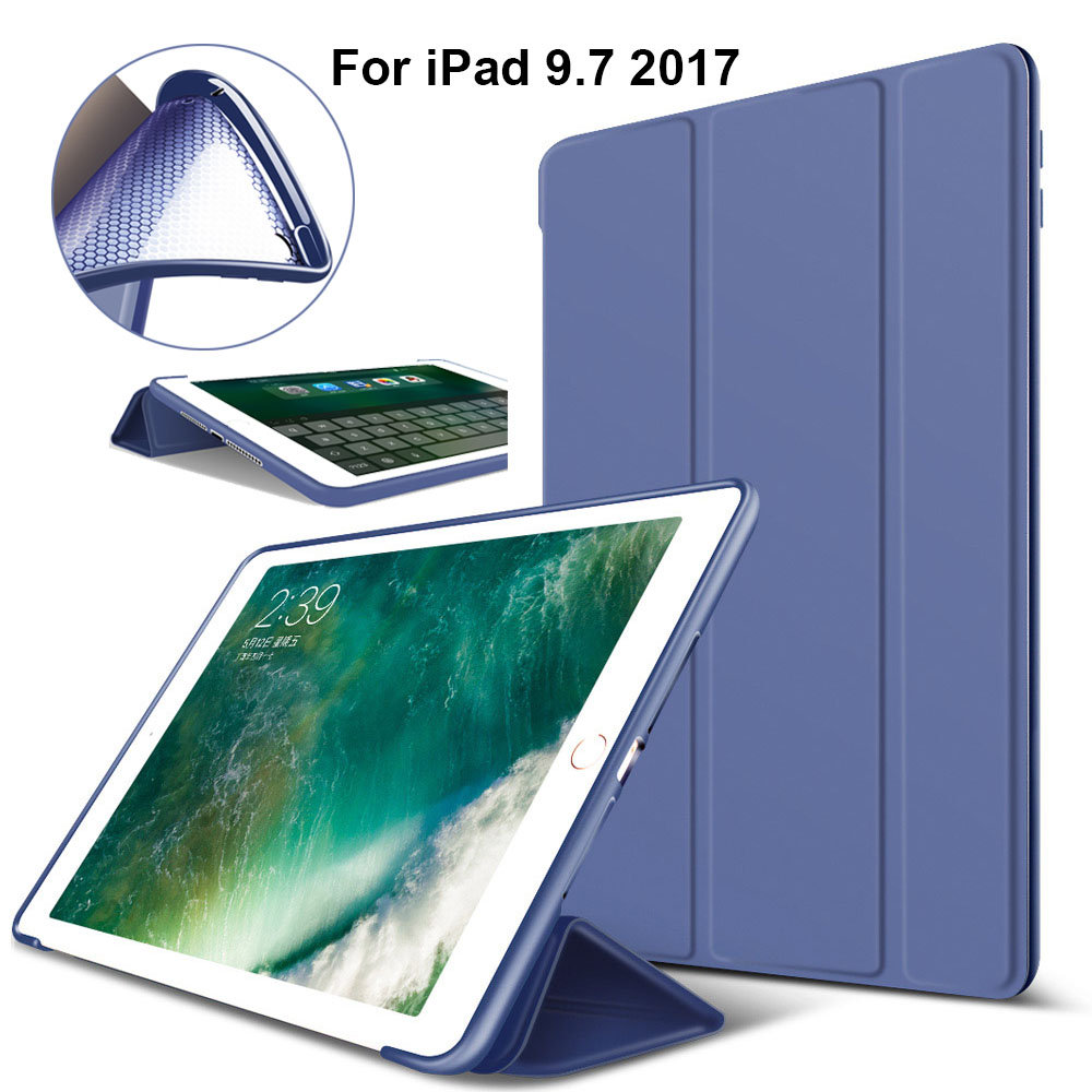 Case For New iPad 2017 iPad 9.7 Inch,Redlai Ultra Slim Lightweight Smart Case with Soft Silicone Back Cover For Apple iPad 9.7