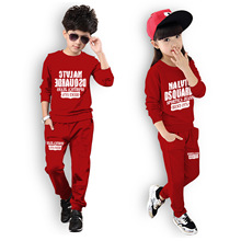 Spring Children Boys Sports Suit Print Girls Clothing Set Toddler Baby Boys Sweatshirts Outfits + Pants Set kids Tracksuit 3-7Y