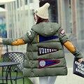 2016 winter jacket women cotton down coat long warm down parkas hooded plus Size long Sleeve pattern print overcoat outwear