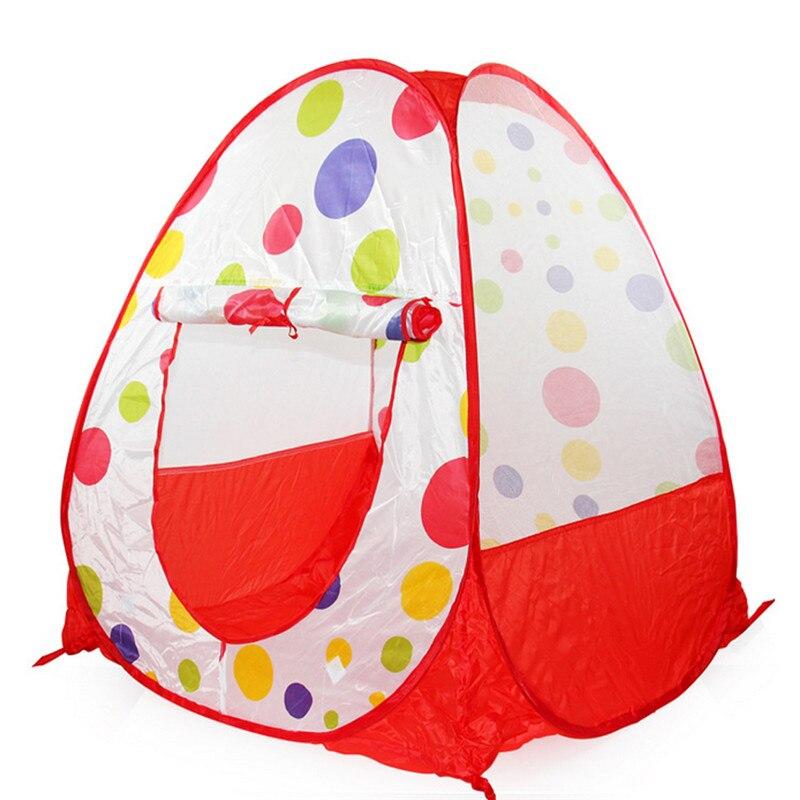 Детская игровая палатка играть дома Крытый палатка играть в игрушки подарок на день рождения палатка для бассейн надувной мяч дети piscina de ...