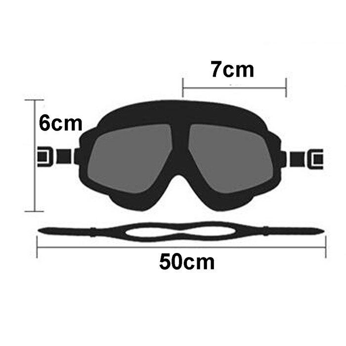 Óculos de natação polarizados máscara de snorkel