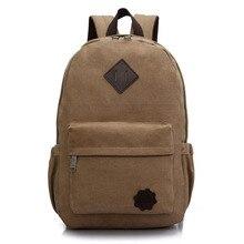2016 Vintage Männer Leinwand Rucksack Mode Schultasche Lässig Reise Rucksack Umhängetaschen Laptop bolsas mochila Escolar XA1054C