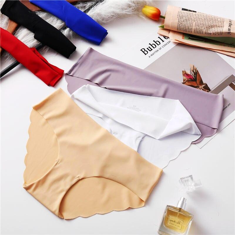 Fashion Seamless   Panties   Women Underwear Female Comfort Intimates Women Low-Rise Briefs 8 Colors Lingerie   Panties   Drop Shipping