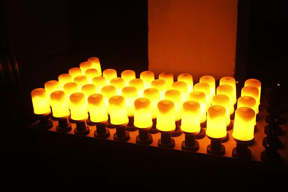 Купить с кэшбэком E27 E26 Flame Flicker LED Bulb Dynamic Effect Corn Dancing Fire Burning Flicker LED light 3528SMD AC85-265V 300lm Epistar li