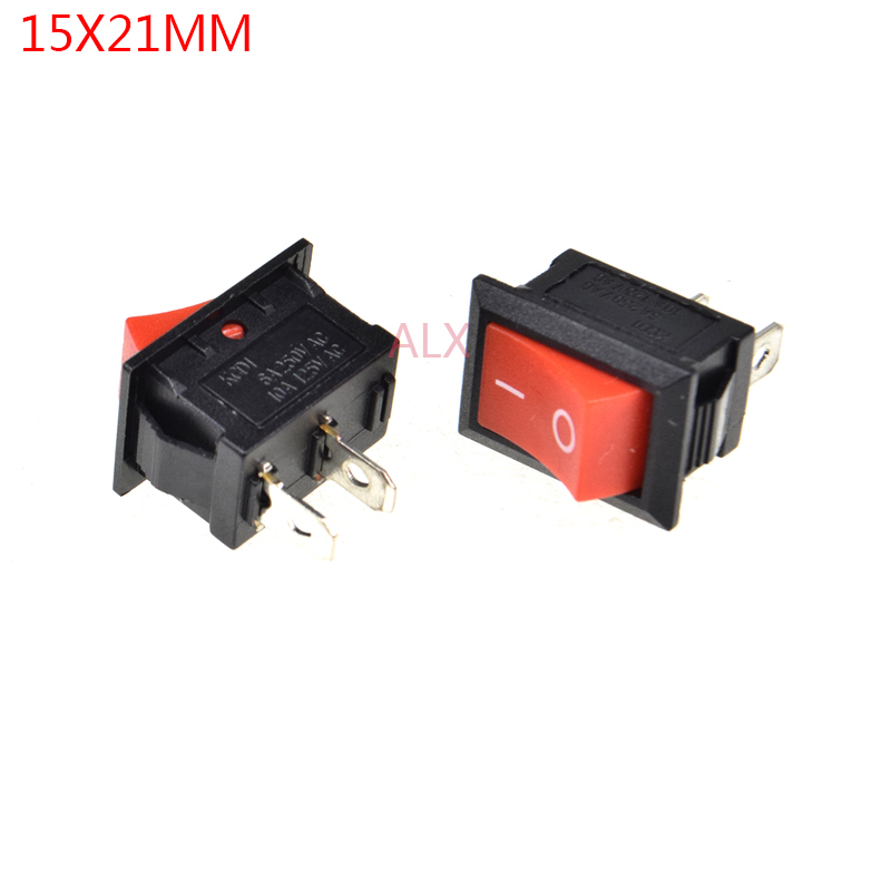 Popular Brand Cnim Hot 5 Pcs Red Light Illuminated On/off 2 Position Spst Boat Rocker Switch 3 Pin Switches