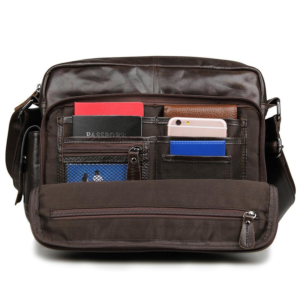Genuine Leather Causal Multi function Men s Crossbody Shoulder Bag Men Messenger Bags Male Cardholder Tool