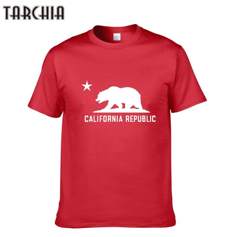 TARCHIA Men   T  -  Shirt   CALIFORNIA REPUBLIC Short Sleeve O-neck Cotton Tshirt Summer Style Fashion Men   T     shirts   Student Hip Hop Tops