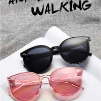 2019 New Classic Oval Women Sunglasses Female Vintage Luxury Plastic Brand Designer Cat Eye Sun glasses UV400 Fashion Eyewear