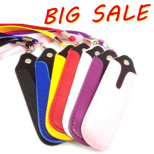 Fits For eGo Leather E-Cigarette Bag Necklace String Neck Lanyard E-cigarette Bag Lanyard Ring Case for eGo evod Vape Pen