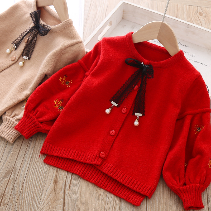 Cotton Baby Jacket Cardigan For girl Kids Sweater Korean Long Sleeve Coat Toddler Girls Knitted Outerwear Winter Autumn Clothes-in Jackets & Coats from Mother & Kids