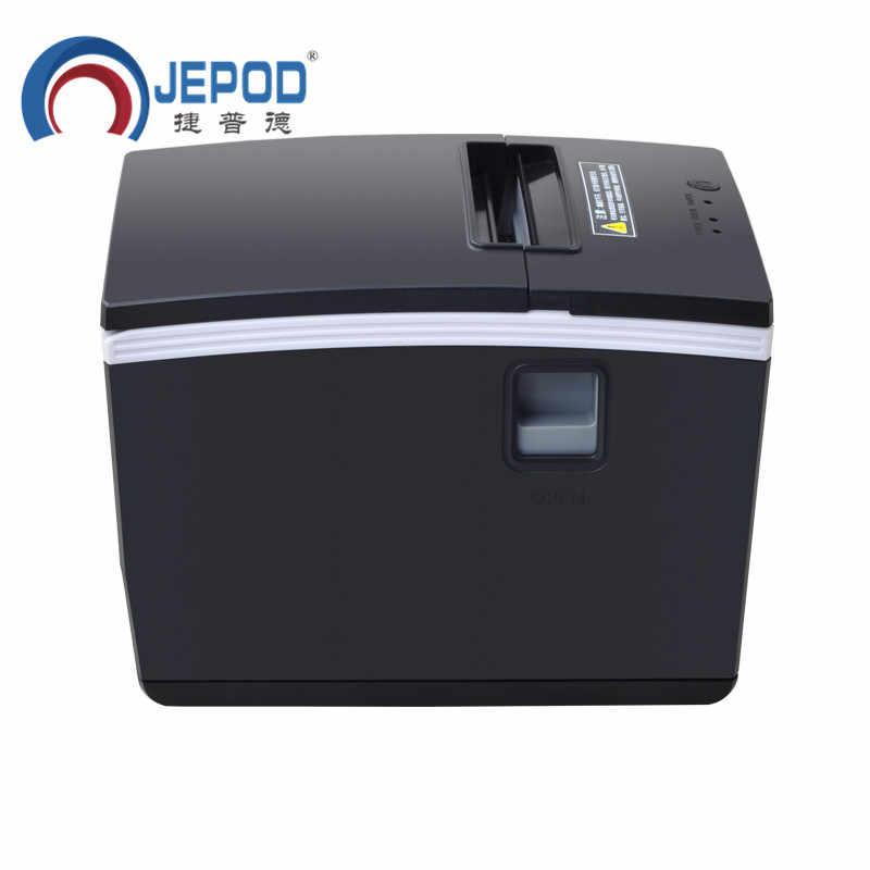 Jepod XP-N260H 260 Mm/s Kecepatan Tinggi Penerimaan Termal Printer USB + Ethernet + Serial Prot Auto Cutter 80 Mm Bill printer untuk Teh