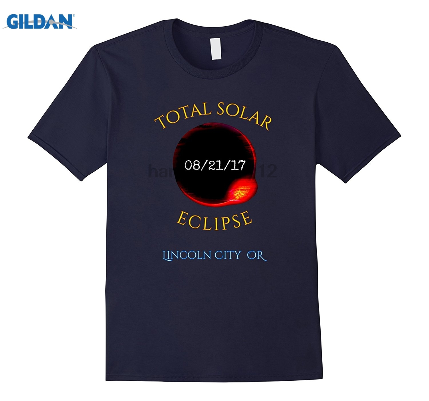 GILDAN Lincoln City OR Total Solar Eclipse Oregon t-shirt Mothers Day Ms. T-shirt