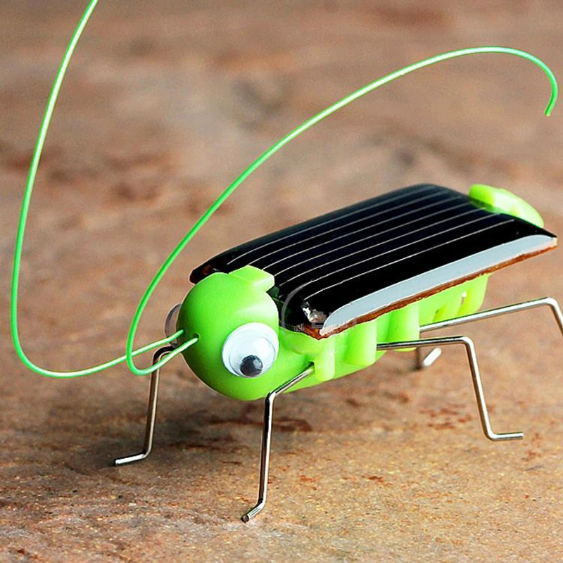 New 1 PCS Children Baby Solar Power Energy Insect Grasshopper Cricket Kids Toy Gift Solar Novelty Funny Toys slipper