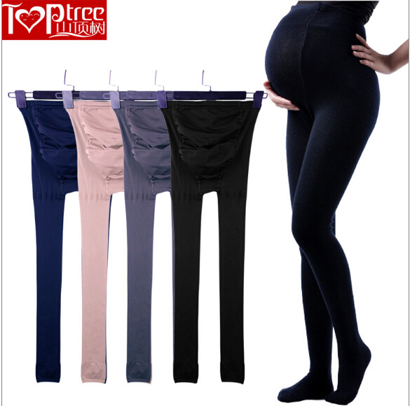 280D Pregnant Women Pantyhose Spring And Autumn Prop Belly Big Yards Pregnant Women  Bottoming Socks Adjustable Plus Size Tights