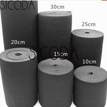 1meter 20/25/30/40cm Wide elastic band for maternal abdomen Heavy Duty Spandex garment trimmings DIY white black elastic tape