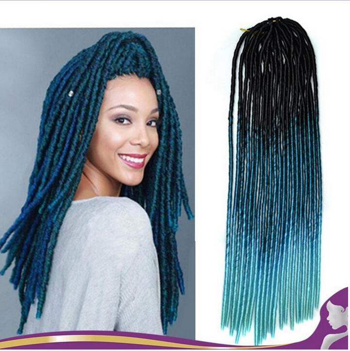 HOT 2017 20strands pack Faux Locs Braids Synthetic Hair 18 Dreadlocks Braiding Hair Extension 100g pc