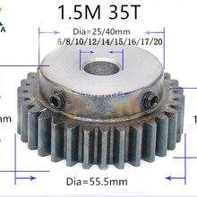 1.5M 35T 1.5 mod gear rack 35teeth Tooth quenching Spur Gear pinion bore 6-20mm spur gear precision 45 steel cnc pinion