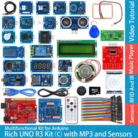 Rich UNO R3 Atmega328P Development Board Module Kit C Compatible With Arduino UNO R3 With MP3