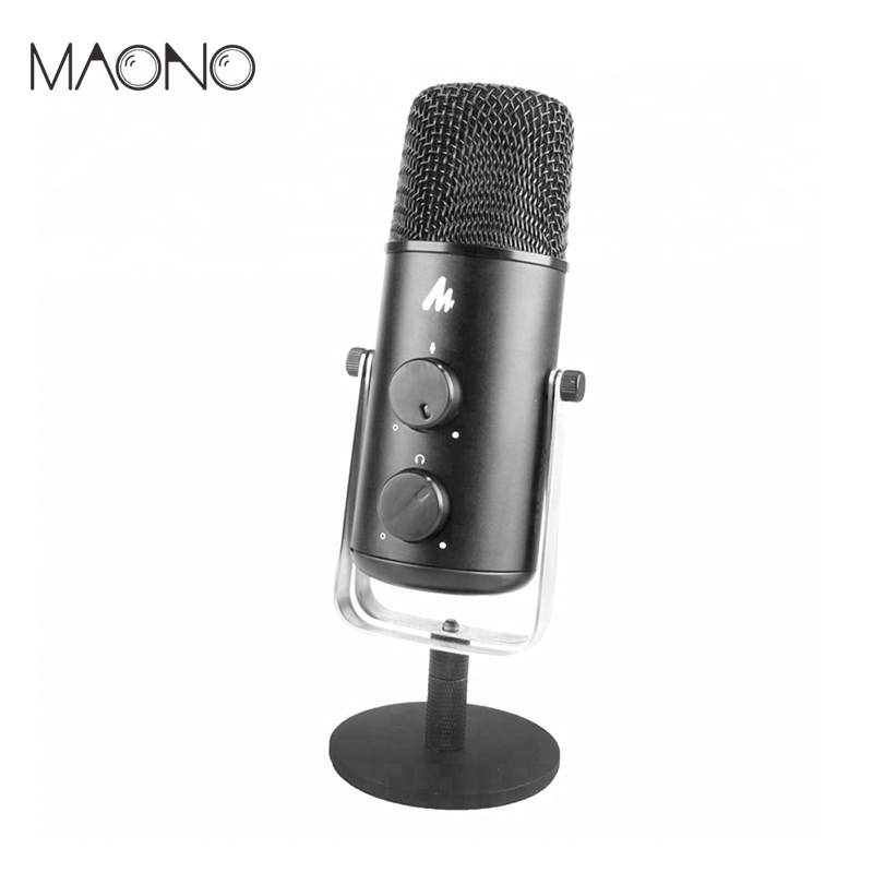 MAONO USB Microphone Omnidirectional Studio Microphone Professional Condender Microphone Computer Mic for Youtube Podcast Gaming tyless usb plug computer tabletop omnidirectional condenser boundary conference microphone for recording gaming skype voip call