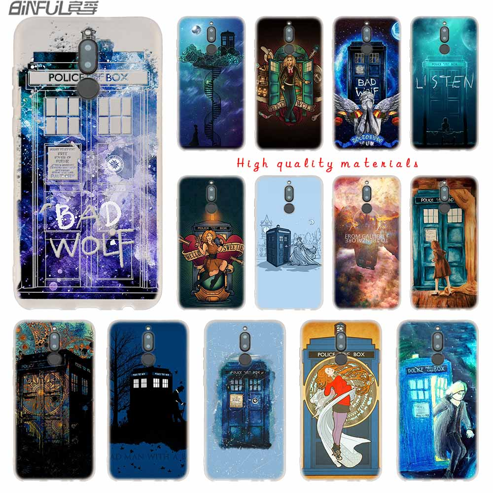 Fitted Cases Doctor Who Tardis Artwork Blue Soft Silicone Cases For Huawei Mate 10 Lite 10 20 Lite Pro 20x S Y5 2017 Y9 2018 2019 Nova 3 3i 4 Demand Exceeding Supply