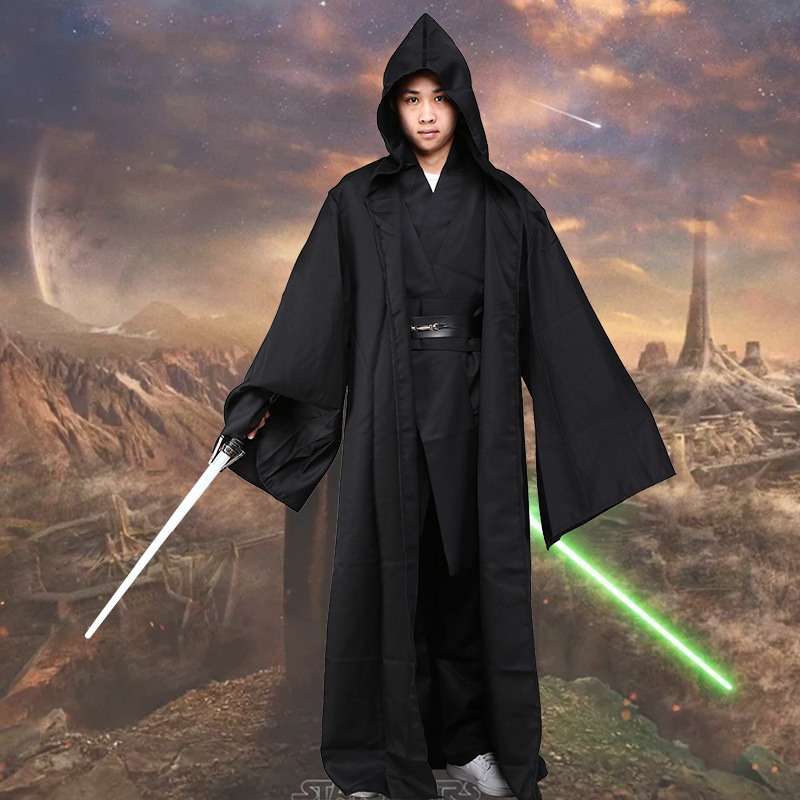 Star Wars Darth Vader Anakin Skywalker Black Cosplay Costume Set Adult Men's Halloween Carnival Party Superhero Cosplay Costume