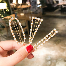 New Fashion Women Pearl Hair Clip Snap Hair Barrette Stick Hairpin Hair Styling Accessories For Women Girls Dropshipping M30 ubuhle fashion women full pearl hair clip girls hair barrette hairpin hair elegant design sweet hair jewelry accessories 2019