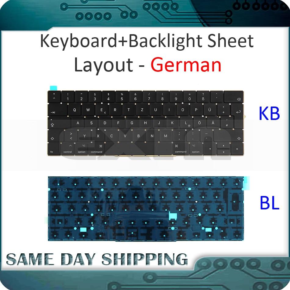 New Laptop A1706 Keyboard German EU EURO for MacBook Pro 13.3 Retina A1706 German Keyboard DE Deutsch QWERTZ Tastatur Keyboard new laptop a1706 keyboard italian eu for macbook pro 13 3 retina a1706 italian italy ita keyboard uero 2016 2017 year