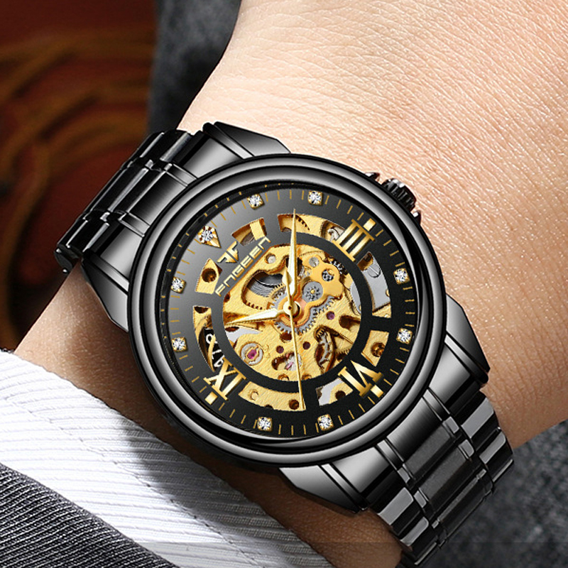 horloge mode noir rabais