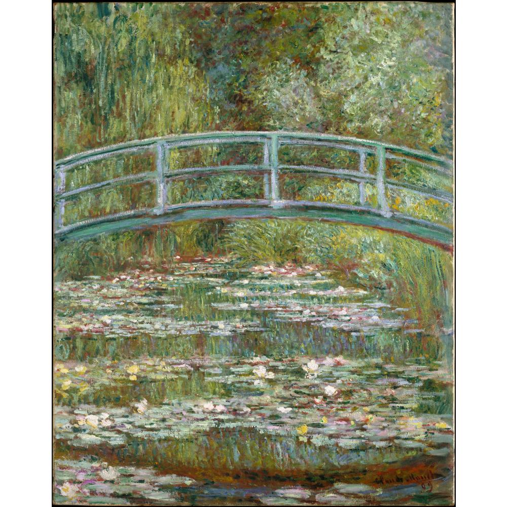 Un Waterlily Pond, sinfonia In Rosa di claude Monet Riproduzione Della pittura a olio Su Tela A Mano di Alta qualità