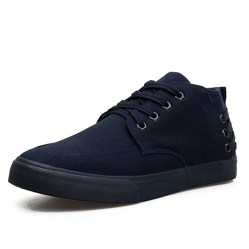 ФОТО Men Flats Canvas Shoes Brand Men Casual Lace Up Outdoor Sport Men Shoes 2017 Fashion Female Black Blue  Flat Shoes 811-39-44