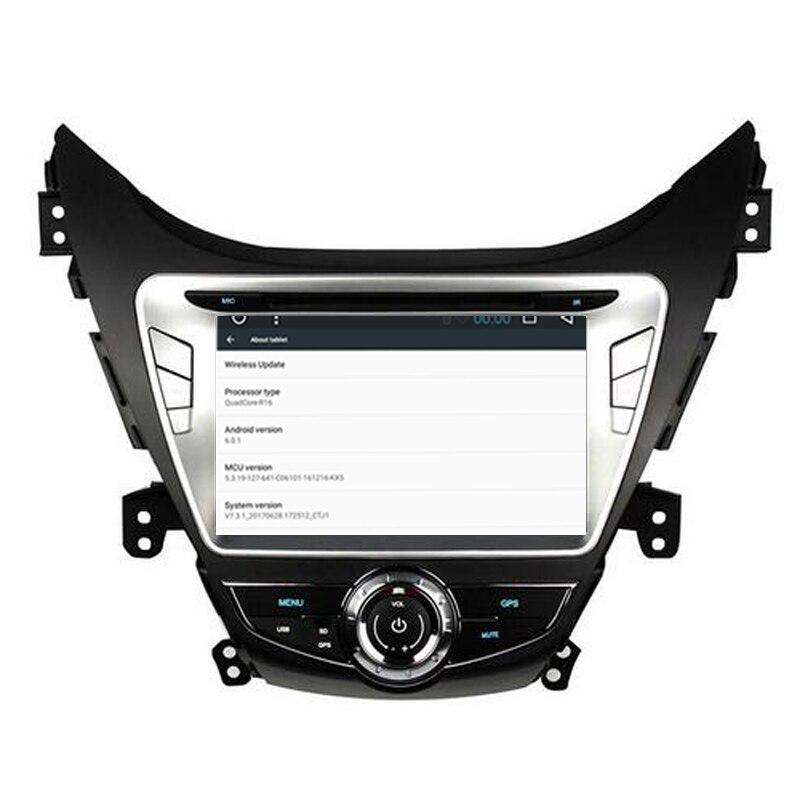 Otojeta Quad Core 2 ГБ оперативной памяти + 32 ГБ Android 6.0.1 Car мультимедийный плеер для Hyundai Elantra 2012 записи стерео GPS камеры