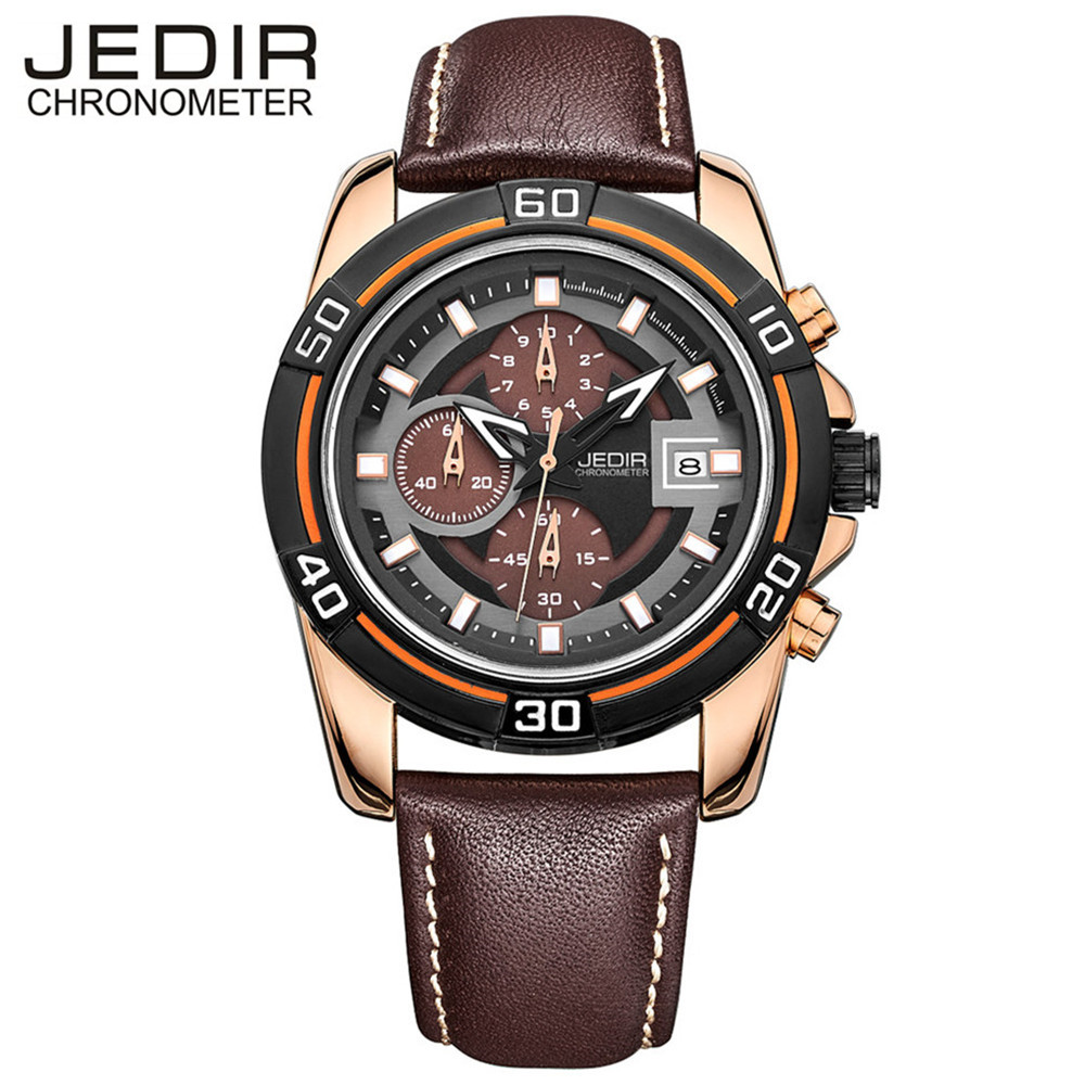 JEDIR Mens Watches Top Brand Luxury Chronograph Sport Casual Quartz-Watch Waterproof Military Clock Men Relogio Masculino 2023  jedir fashion chronograph men watch top brand luxury blue mens watches military male date clock stainless steel sport clocks