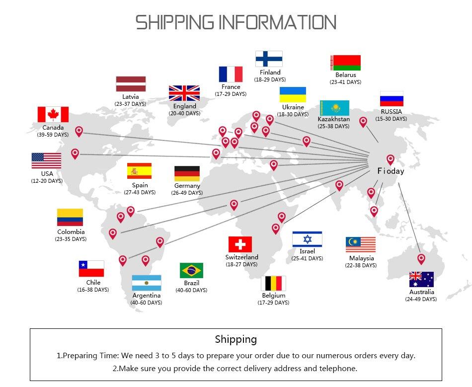 shipping 国家物流时间图