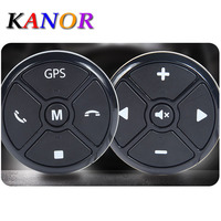 KANOR Car Wireless Universal Steering Wheel buttons Smart steering wheel Remote Controller Kit canbus control