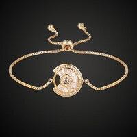 צמיד מתכוונן מכירה חמה לנשים Zirconia צמידים בצבע כסף זהב תכשיטי צמידים & צמידי מתנת חבר