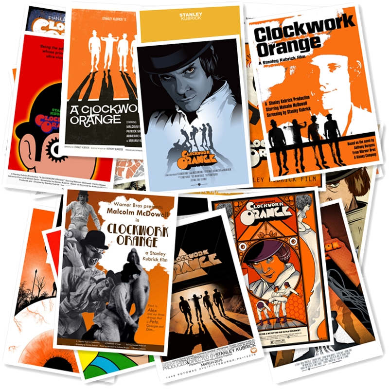 Clockwork Orange 20/pcs PVC Series Sticker Home Decor Fridge Styling Wall Travel Suitcase Graffiti Styling