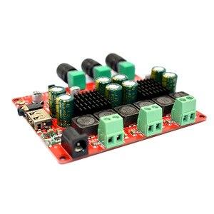 Image 2 - Цифровой усилитель TPA3116, 2,1 дюйма, 2x50 Вт + 100 дюйма, Bluetooth, FM, USB