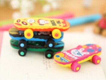 New Arrival Street Boy Skateboard Eraser Set Cute Eraser Funny Eraser MOQ 4 Pieces Per Lot