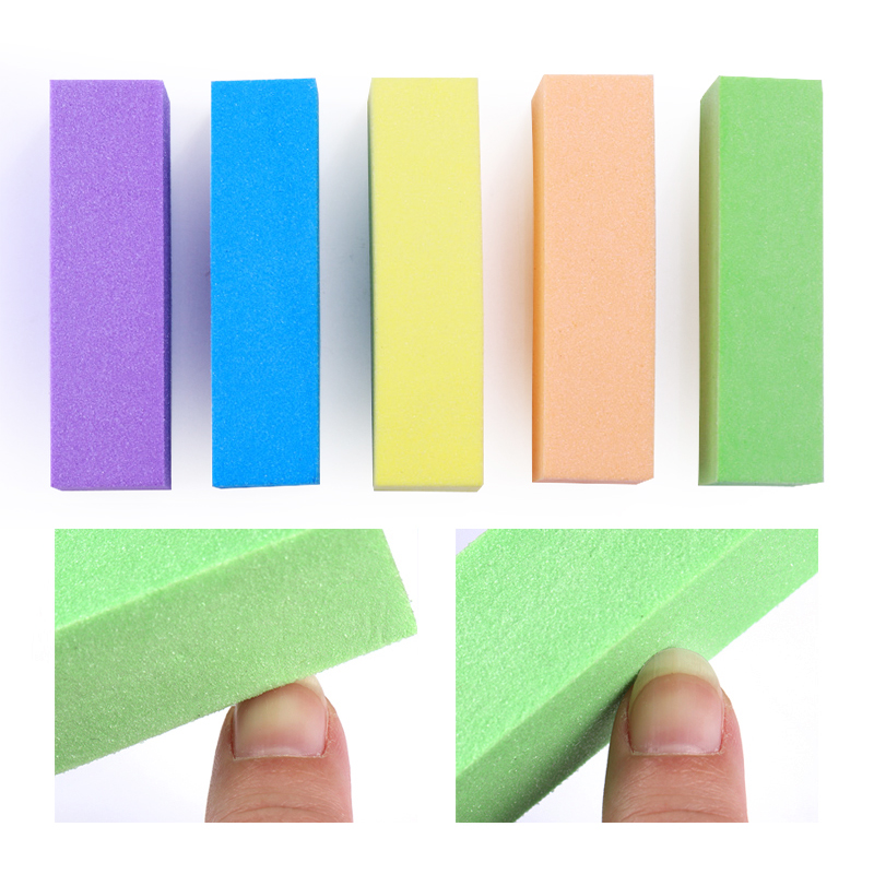 10 Pcs Colorful Sanding Sponge Nail Buffers Files Block Grinding Polishing  Nail Art Tool