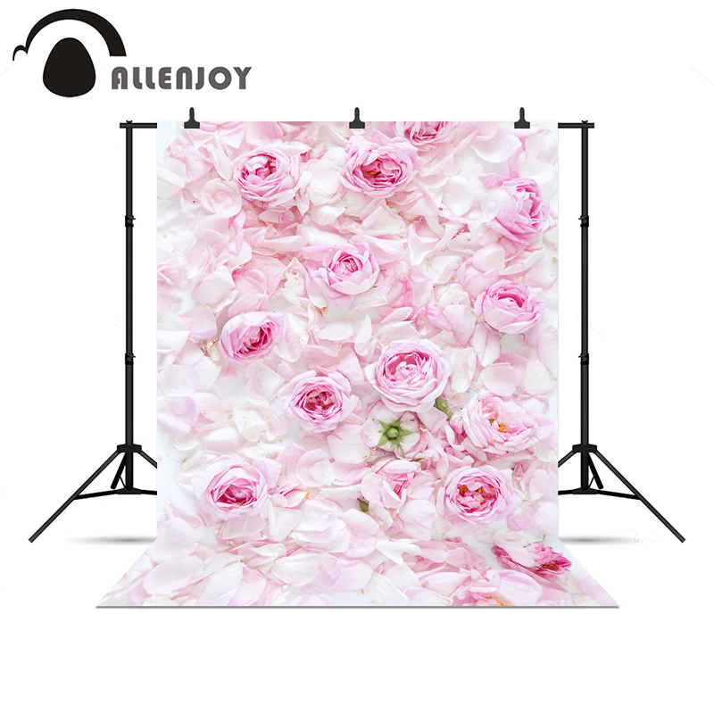 Allenjoy background for photo shoots Pink rose wedding love baby shower fresh backgrounds for photo studio photo backdrop
