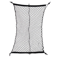 Car Cargo Net Luggage Holder Trunk Interior Mesh Net Storage Bag Tidying With 4 Hooks