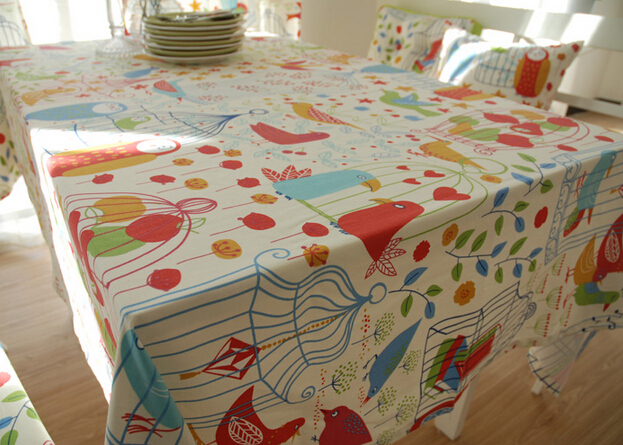 Charmant Free Shipping Cotton Colorful Cute Bird Design Tablecloth For Kids In  Tablecloths From Home U0026 Garden On Aliexpress.com | Alibaba Group