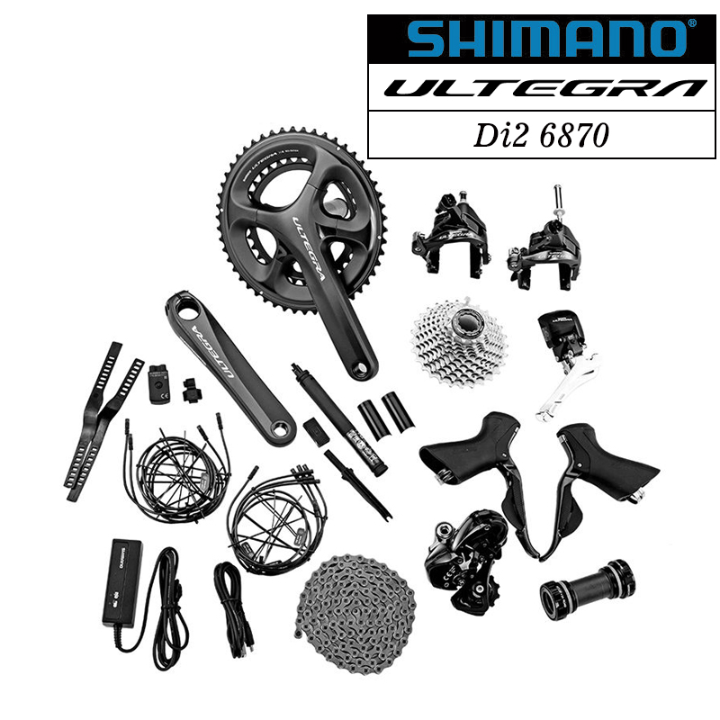 Shimano Ultegra Di2 6870 Road Bike Bicycle Full Electronic Groupset 22 Speed 46-36T 50-34T 52-36T 53-39T From 6800 Groupset