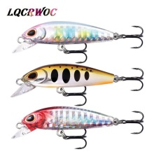 Купить с кэшбэком NEW 2019 Minnow 5cm fishing lures mini small bass Trout lure isca artificial wobbler hard bait peche pesca japan fishing tackle