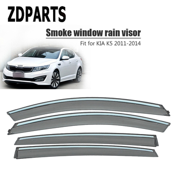 ZDPARTS 4Pcs/Set Car Wind Deflector Sun Guard Rain Wind Vent Visor Cover Trim Accessories For Kia K5 Optima 2011 2012 2013 2014