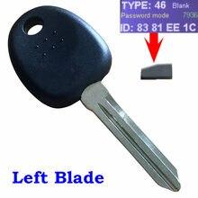Sem corte lâmina em branco ignição transponder chip chave id46 para hyundai coupe tucson elantra acento santa fe entourage