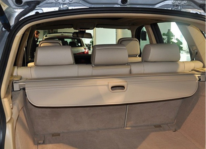 Retractable rear cargo cover trunk shade security cover  for BMW X5 2014 Beige car rear trunk security shield cargo cover for volkswagen vw tiguan 2016 2017 2018 high qualit black beige auto accessories