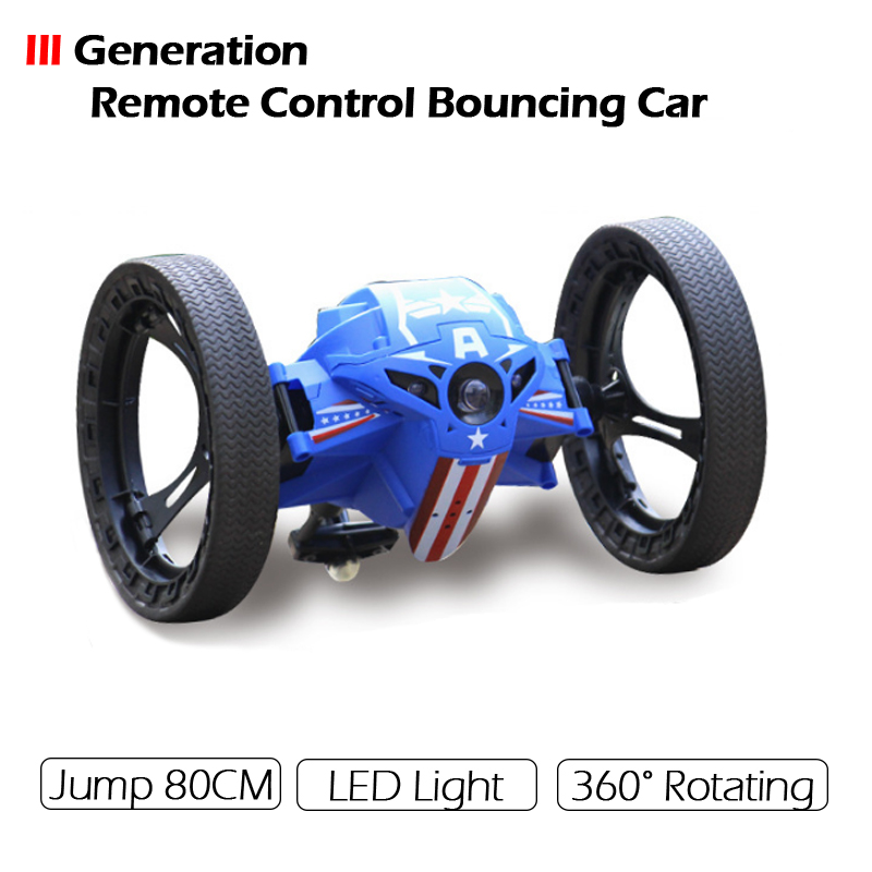 2017 Version III Mini Remote Control Bounce Car 4CH 2.4GHz Strong Jumping Sumo Flexible Wheels Robot Car for Gifts