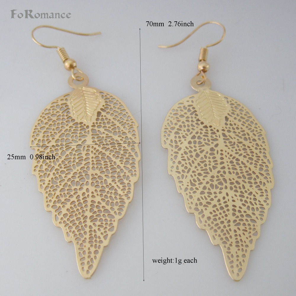 Aliexpress Foromance Four Style Maple Leaf Shaped Dangle Earring Dangling Part Yellow Gold Dubai Gp Overlay Light Color From Reliable